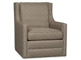 his swivel glider comes standard with a deluxe seat cushion and welt trim cedric is also available as a skirted swivel chair