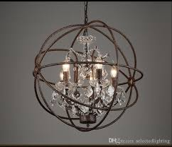 rh industrial lighting restoration hardware vintage crystal pertaining to stylish property crystal orb chandelier plan