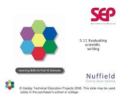Scientific Writing Skill 5 11 Evaluating Scientific Writing Stem