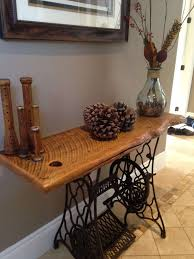 hallway table decor. Great Exterior Theme Under Hallway Table Made With Antique Singer Inspiration Of Sewing Machine Ideas Decor U