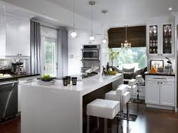 Contemporary Kitchen Window Treatments HGTV Pictures HGTV - White contemporary kitchen