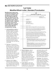 Modified Block Letter Standard Punctuation