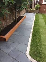 brazil black slate paving slabs mix size patio pack