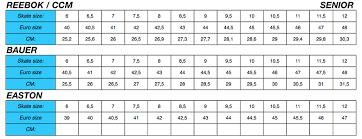 Bauer Vapor Size Chart 80 Thorough Bauer Vapor Size Chart