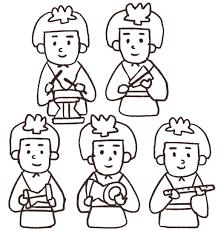五人囃子のイラストひな祭り ゆるかわいい無料イラスト素材集