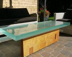 Thick Outside Glass Table - Coffee Tables
