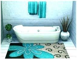 dark aqua bath rugs teal bathroom sets distressed mason jar set rug and gray blue green aqua blue bath rugs
