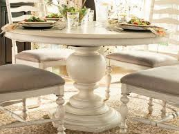 antique round pedestal dining table