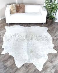 brazilian cowhide rugs rug grey silver metallic p