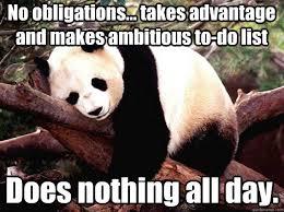 Procrastination Panda memes | quickmeme via Relatably.com