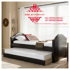 bed furniture image. Dipan Tempat Tidur Double Bed Singa Jati Jepara Furniture Image