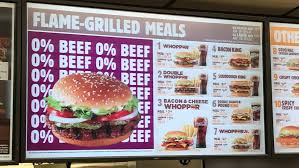 Burger King Protein Chart Burger Kings New Whopper Hold The Meat Save The Planet