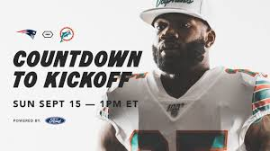 Countdown To Kickoff | Dolphins vs. Patriots