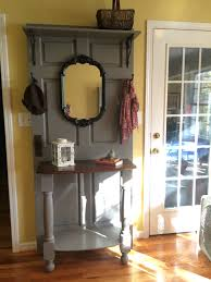 Five Panel Door Headboard Hall Tree Made From Old Door Headboard From Bed And Two Posts