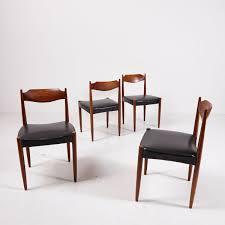 Dänische Esszimmerstühle Aus Palisander 4er Set