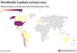 Lambda variant map: Worldwide cases of ...
