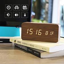 modern nightstand clock. PILIFE Creative Modern Fashioned Digital Alarm Clock With LED Display And Voice ControlSimple Decorative Nightstand