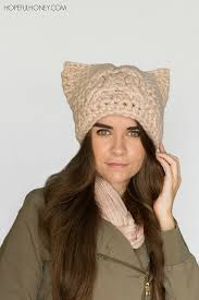 Cat Hat Crochet Pattern Mesmerizing Crochet Patterns Galore Chunky Cabled Cat Hat