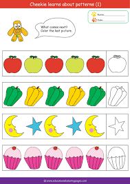 Patterns For Preschool Custom Preschool Worksheets With Patterns 48 Myscres