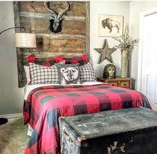 modern cabin buffalo plaid cabin