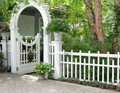 picket fence gate with arbor. Picket Fences | Francescagino Home Inspiration Fence Design Ideas Pinterest Home, And Gate With Arbor K
