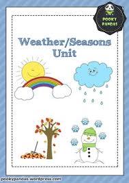 Seasons Chart Kindergarten Weather Seasons Unit