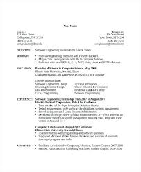 resume for internship in computer science science resume template computer  science resume template 7 free word