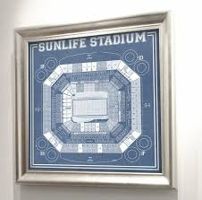 Landshark Stadium Seating Chart Print Of Vintage Sunlife Stadium Seating Chart Seating Chart On Photo Paper Matte Paper Or Canvas
