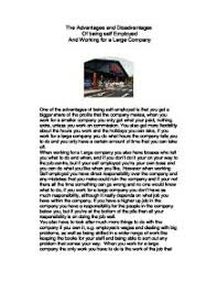 the advantages and disadvantages of being self employed and page 1 zoom in