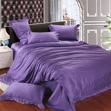 luxury violet tencel duvet cover bedding sets purple silk queen king size double bed in a