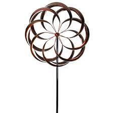 china garden decor metal wind spinner