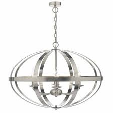Dar Lighting Sym0646 Symbol 6lt Pendant Satin Chrome Outside Lights