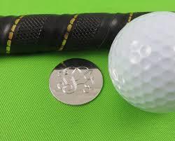 golf ball marker personalized sterling silver golfer gift groomsmen gift las golf gift