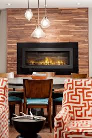 wall mounted electric fireplace in a dinning room