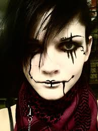 scary clown halloween face makeup ideas