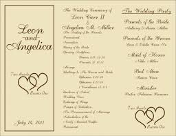 017 Template Ideas Diy Rustic Wedding Program Printable