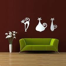 diy 3 cats acrylic mirror wall stickers wall decor home room decal diy 3 cats acrylic