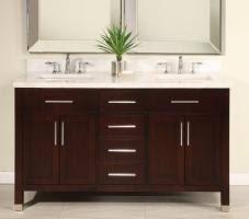 bathroom vanity 60 inch: empire  inch double sink bathroom vanity
