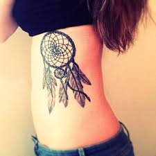 Dream Catcher Tattoo On Side Women Show Simple Dream Catcher Tattoo Make On Side Thigh 66