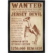 Picture Of A Wanted Poster Jersey Devil Wanted Poster True Jersey 1