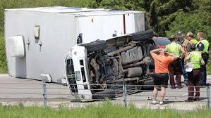 Overturned camper clogs I-35 traffic near Duluth | Duluth News Tribune