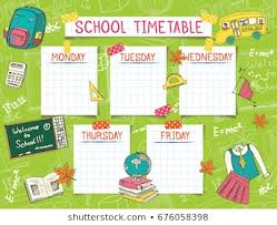 Timetable Chart Ideas 1000 School Timetable Stock Images Photos Vectors