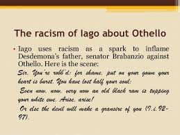 racism in othello william shakespeare 9
