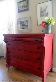 bedroom furniture makeover. Red Empire Dresser | 17 DIY Bedroom Furniture Makeover For Minimalists S