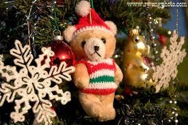 Teddy Bear and Christmas Tree Ornaments