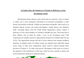 is golden rice the solution to vitamin a deficiency in the  document image preview
