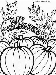 Nice Free Thanksgiving Color Pages Coloring
