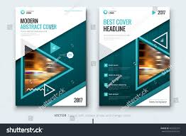 Design Corporate Teal Modern Catalog Design Corporate Business Stock Vector