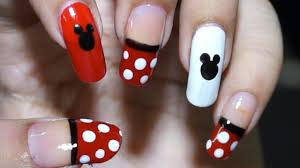 Easy Nail Design Steps Nail Art At Home Easy Cool Mickey Mouse Design In Steps