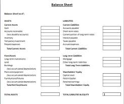 balance sheet template elegant and simple financial balance sheet template microsoft word